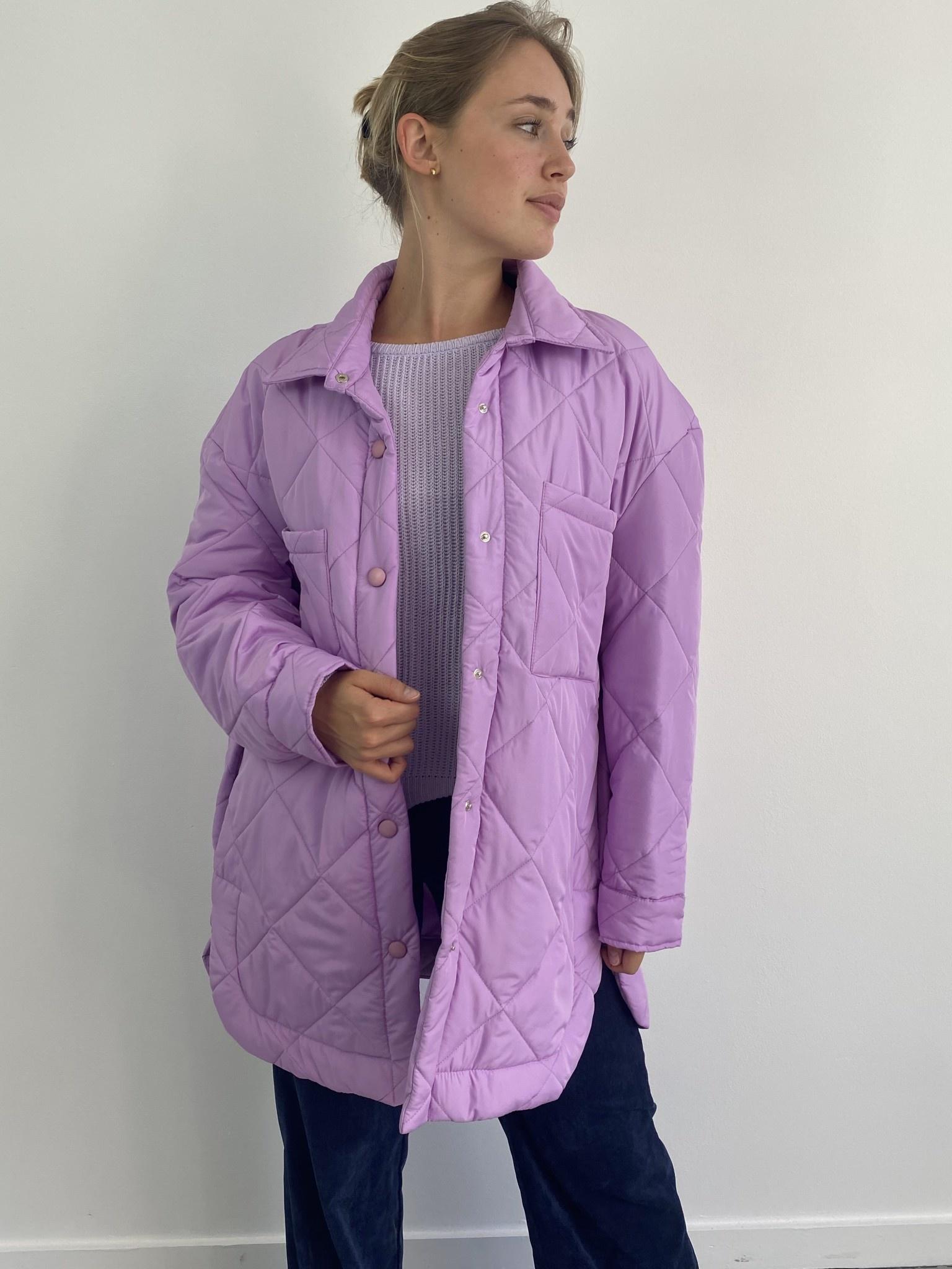 Hula matelasse jacket Lila-1