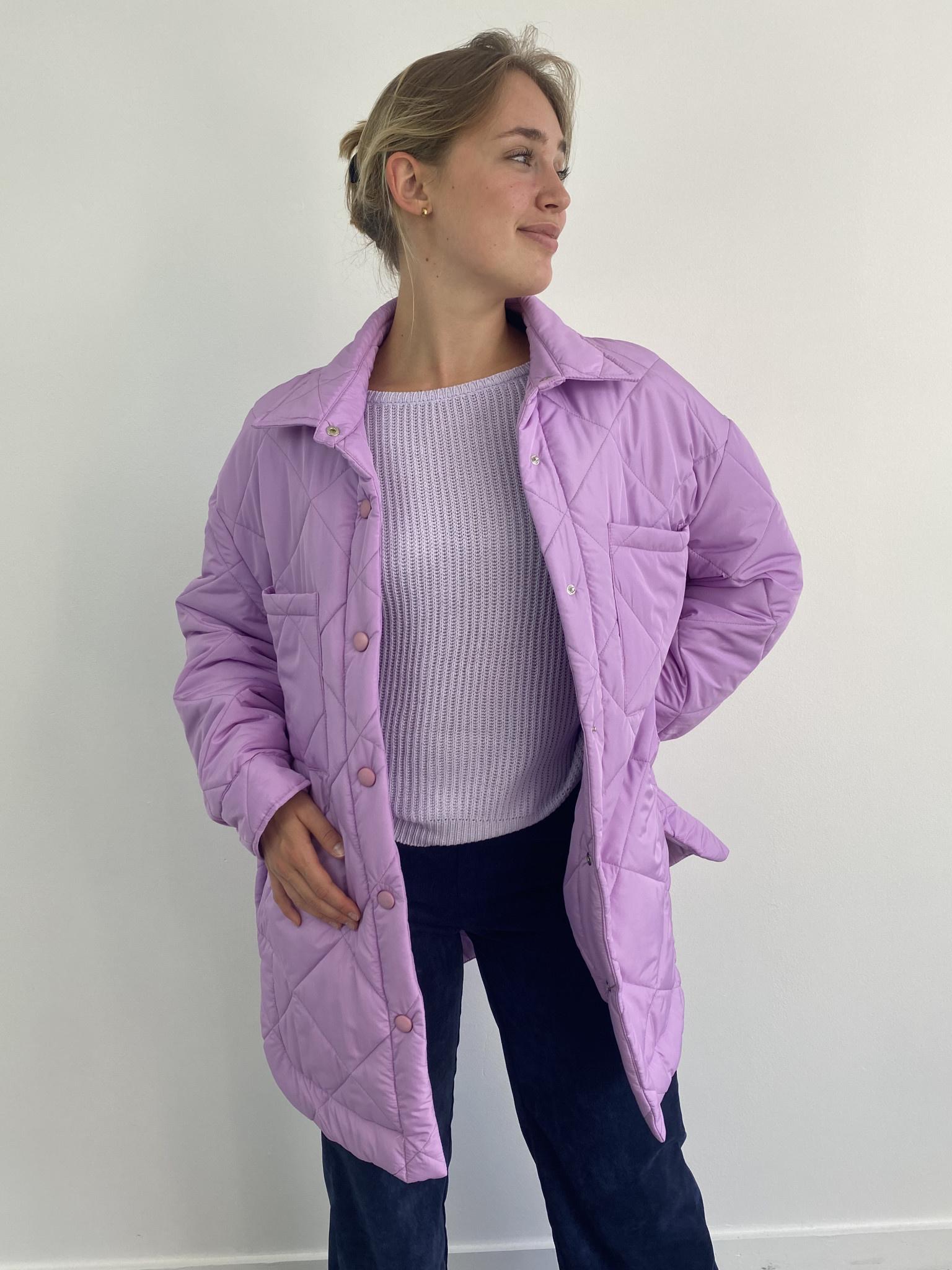 Hula matelasse jacket Lila-4