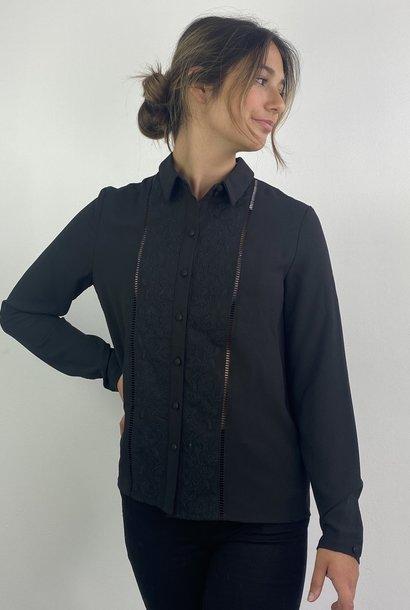 Tasmin broderie blouse Black