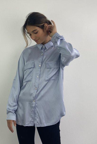 Naëlla satin blouse Light Blue