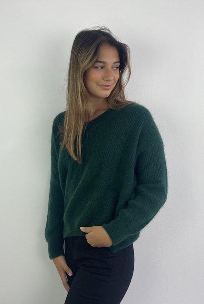 Louna v-neck knitted pull Pine