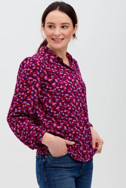 Queenie confetti shirt Burgundy