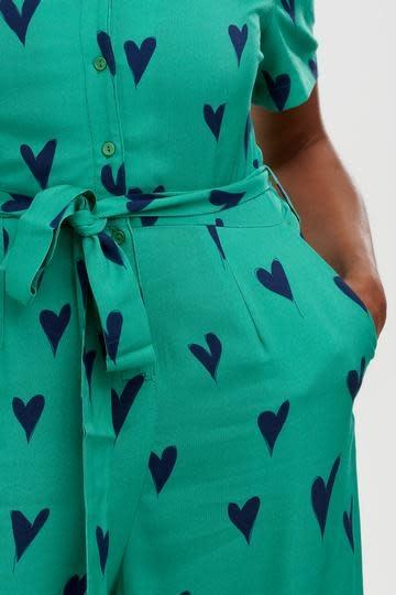 Hazel jumpsuit Green Hearts-2