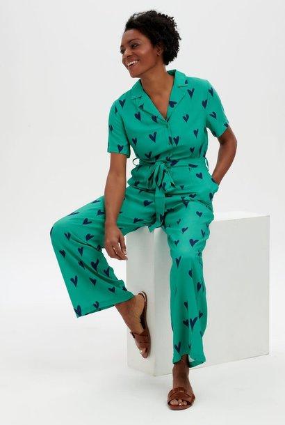 Hazel jumpsuit Green Hearts