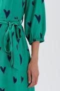 Courtney midi dress Green Hearts-2