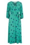 Courtney midi dress Green Hearts-6