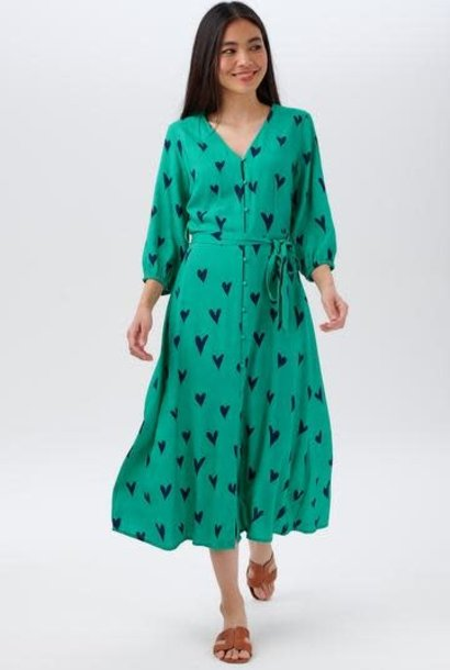Courtney midi dress Green Hearts