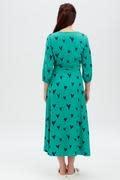 Courtney midi dress Green Hearts-5