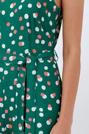 Francesca jumpsuit Green Dots-2