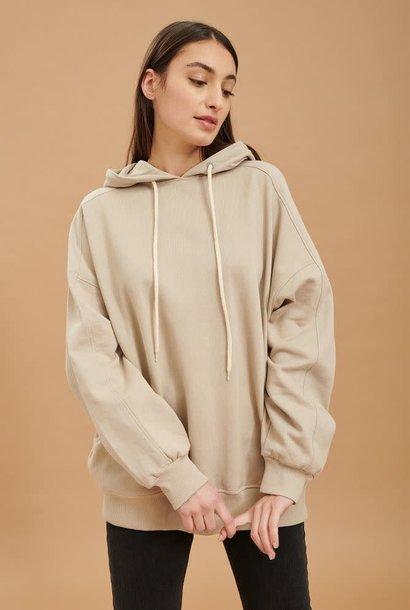 Katiya oversized hooded sweater Beige
