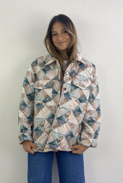 Kajsa padded lightweight oversized jacket  Snow White