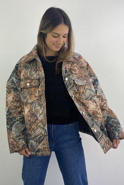 Kajsa padded lightweight oversized jacket Camel