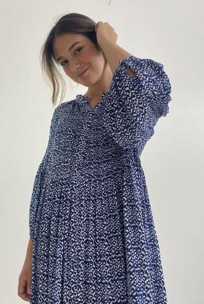 Nyce midi dress Blue flower