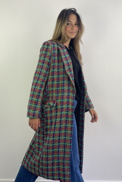 Jacqueline structured coat Green