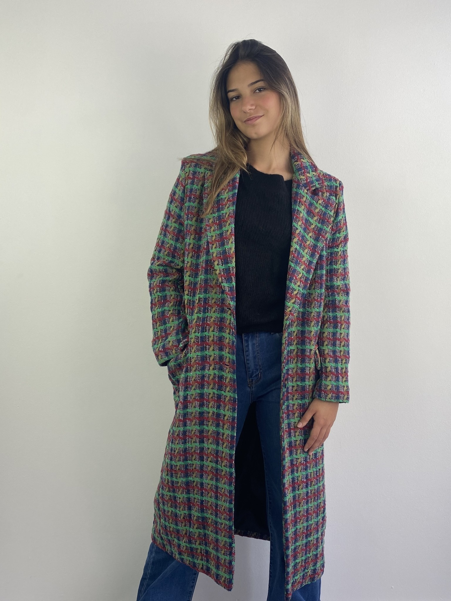 Jacqueline structured coat Green-3