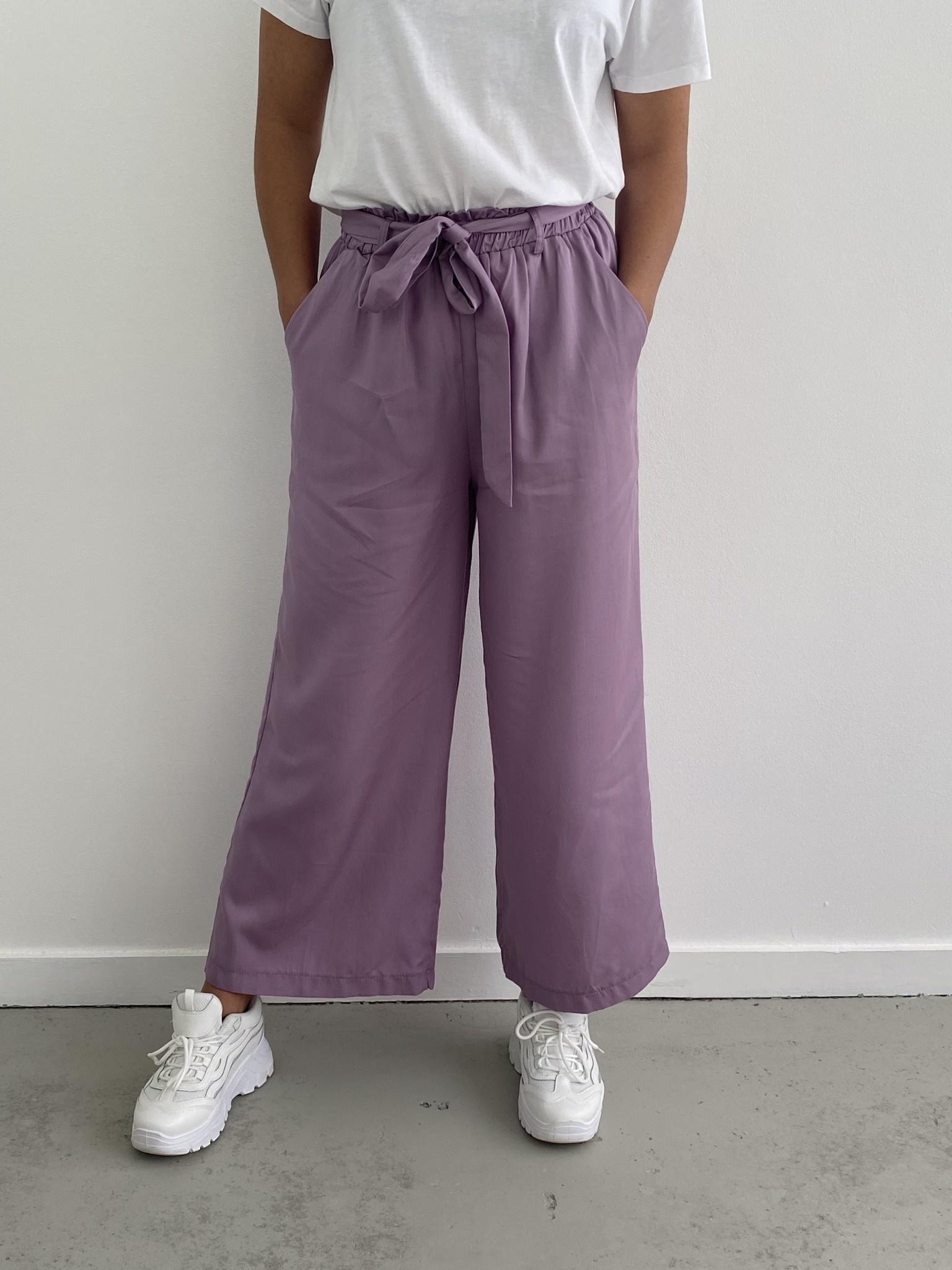 Natu wide pant Purple-1