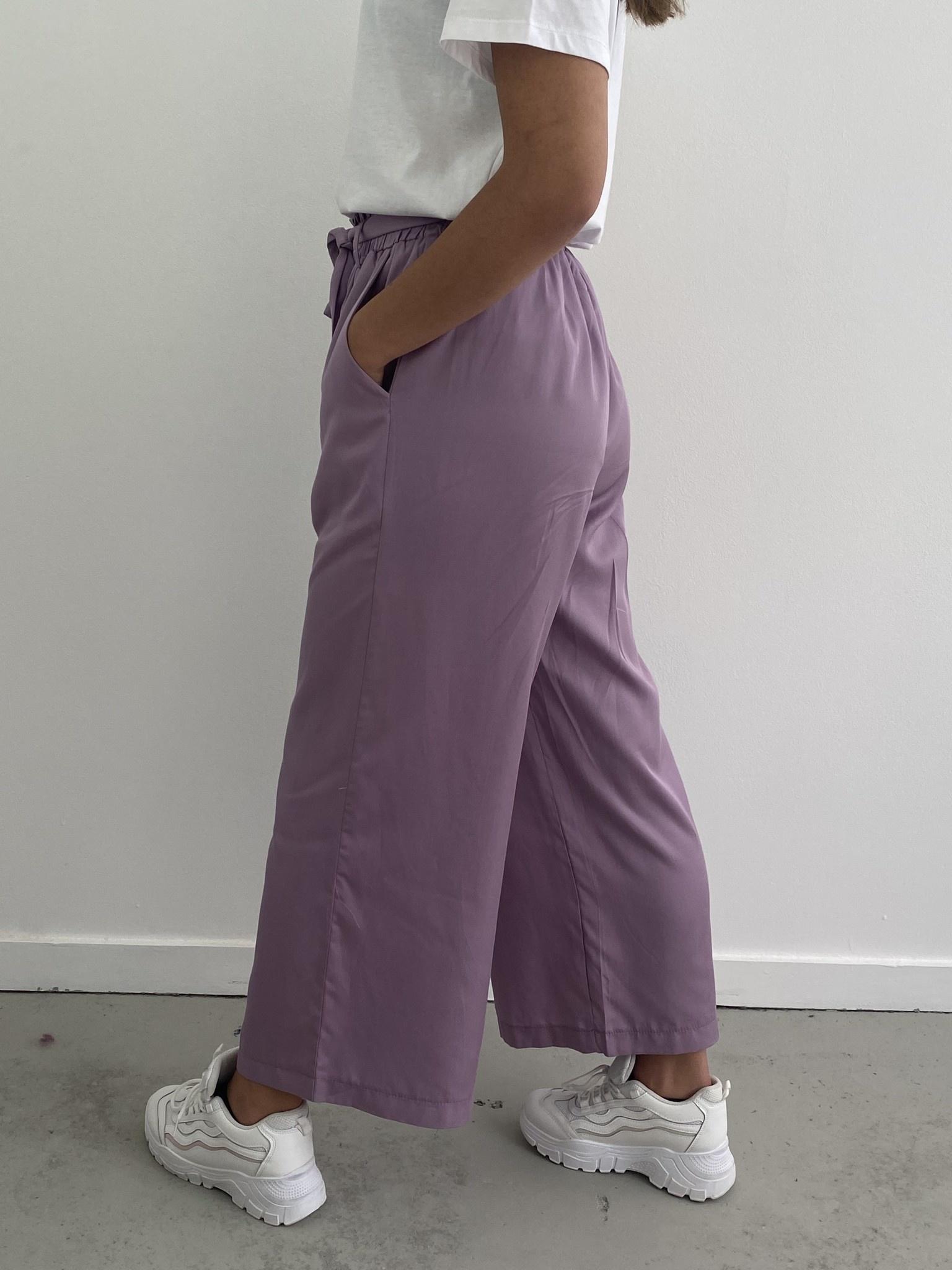 Natu wide pant Purple-2