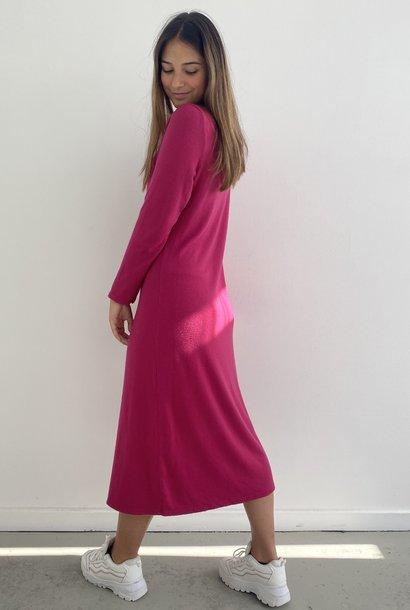 Stasia knitted midi dress Fushia