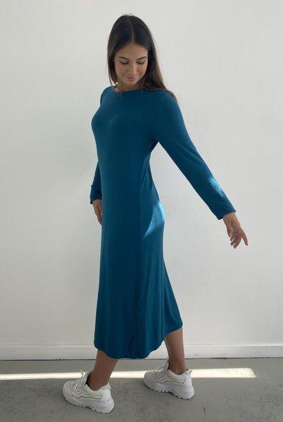 Stasia knitted midi dress Petrol