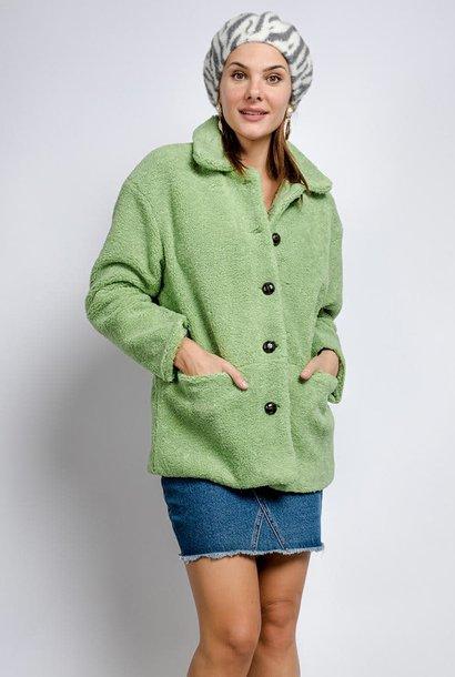 Utah teddie jacket Soft Green