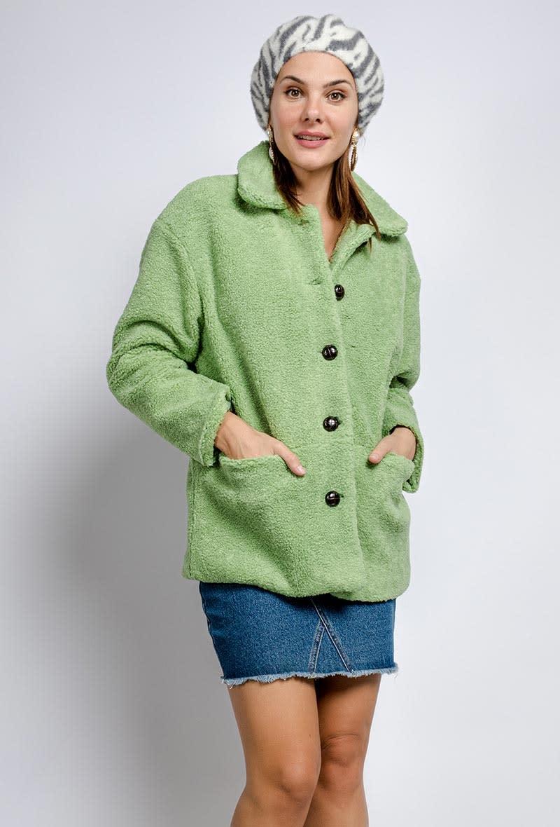 Utah teddie jacket Soft Green-1