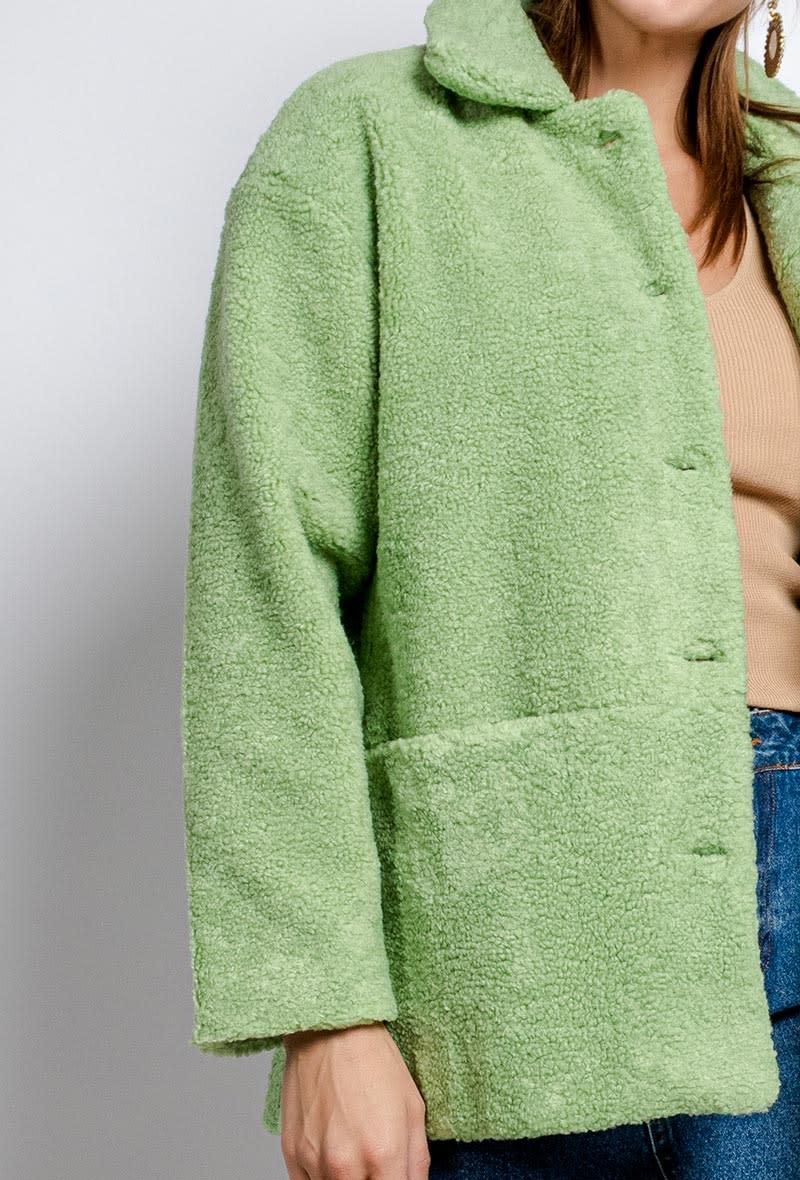 Utah teddie jacket Soft Green-3