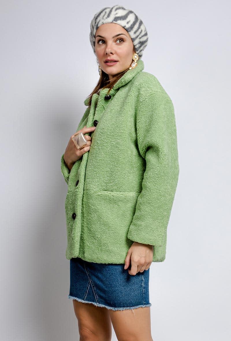 Utah teddie jacket Soft Green-2