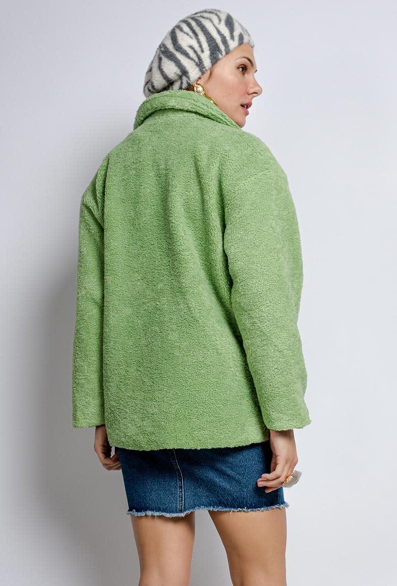 Utah teddie jacket Soft Green-4