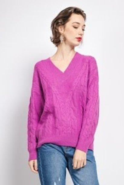 Shanella cable knit Mauve