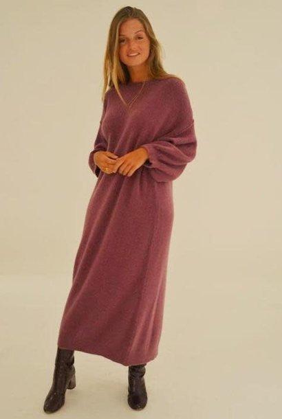 Xixi knitted dress Aubergin