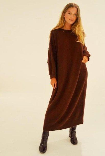 Xixi knitted dress Brown Rum