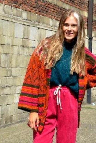 Lapaz etnic kimono jacket Orange