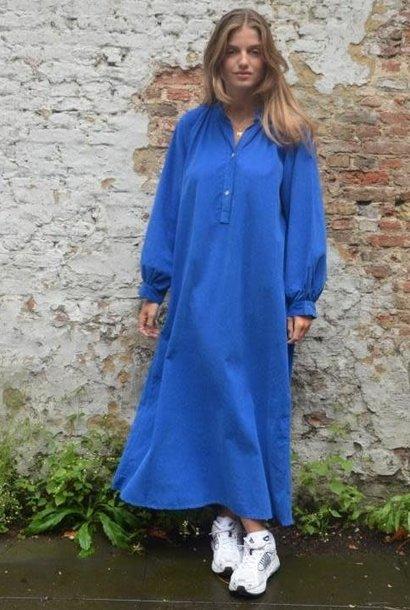 Erdoroy corduroy maxi dress Cobalt Blue