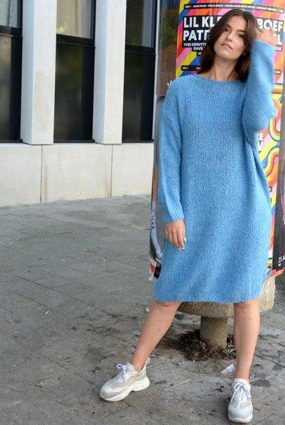Ifosha knitted dress Light Blue