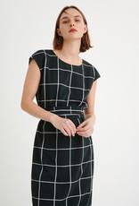 InWear Katiya Saffron Dress Black and White