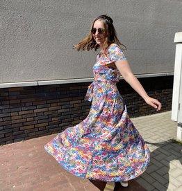 Soaked in Luxury Arjana Maxi Dress Multi Floral Print