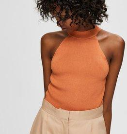 Selected Femme SLF Solita Knit Top Caramel
