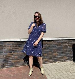 Gestuz Kaila Short Dress Navy Flower Dots
