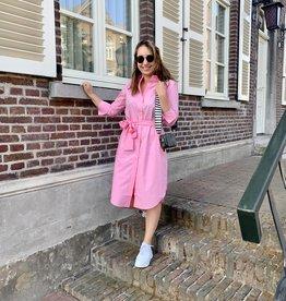 Second Female Larkin Midi Shirt Dress Prism Pink