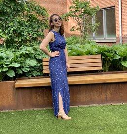 Soaked in Luxury Alaya Maxi Dress Twilight Blue Print