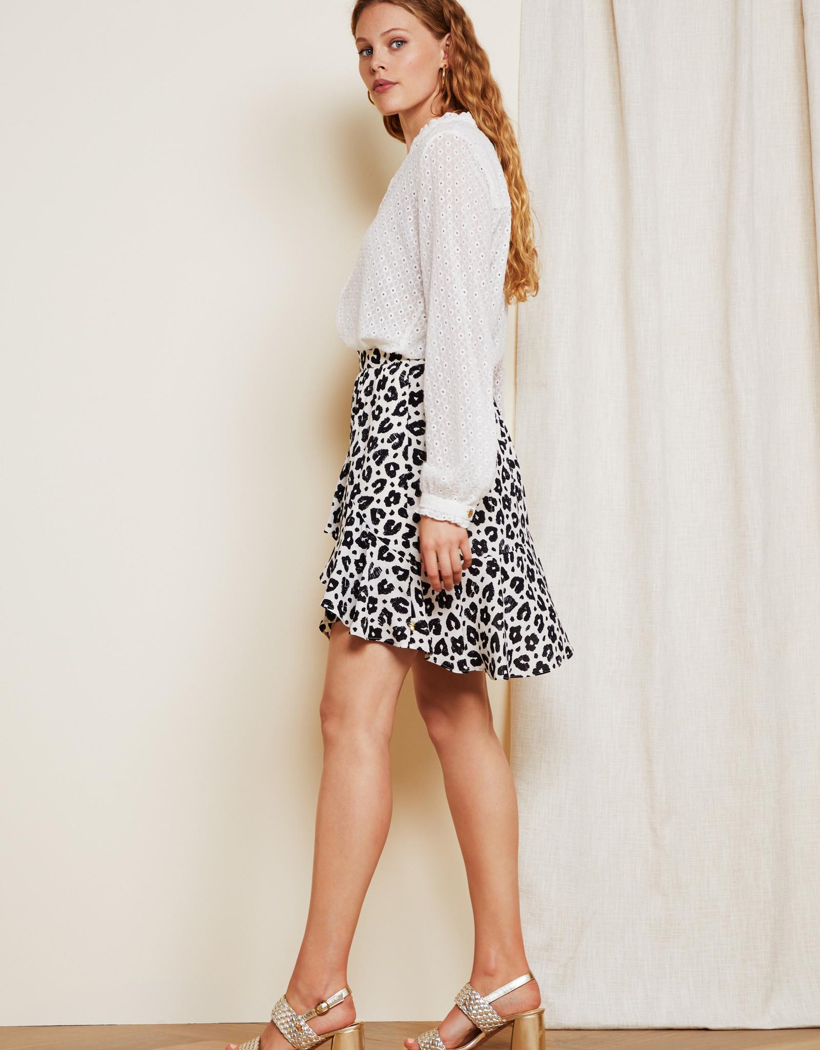 Fabienne Chapot Lulu Skirt Lolita Leopard Black