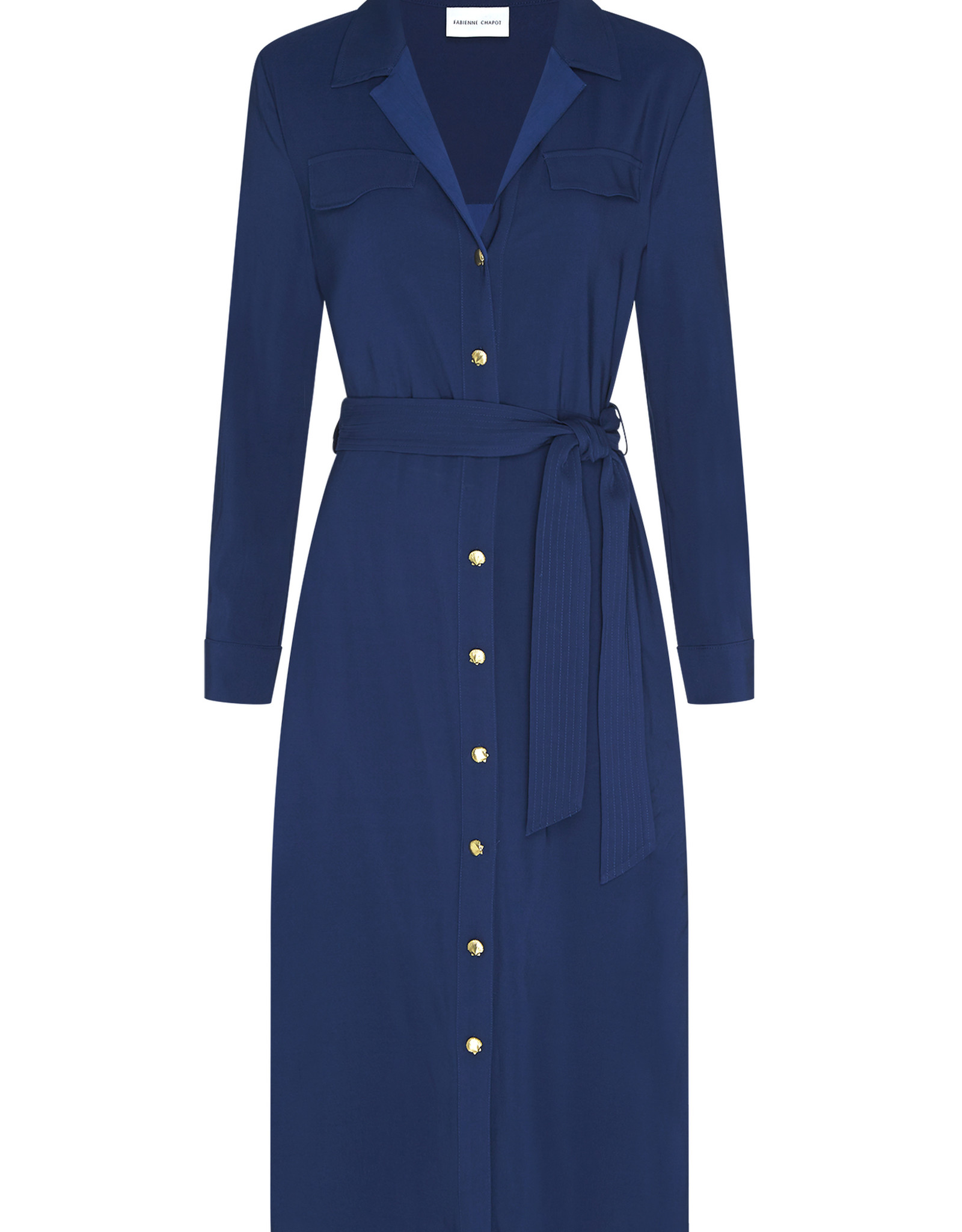 Fabienne Chapot Thea Lou Dress Wavy Navy