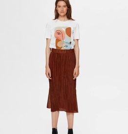Selected Femme Kimi Midi Skirt Smoked Paprika