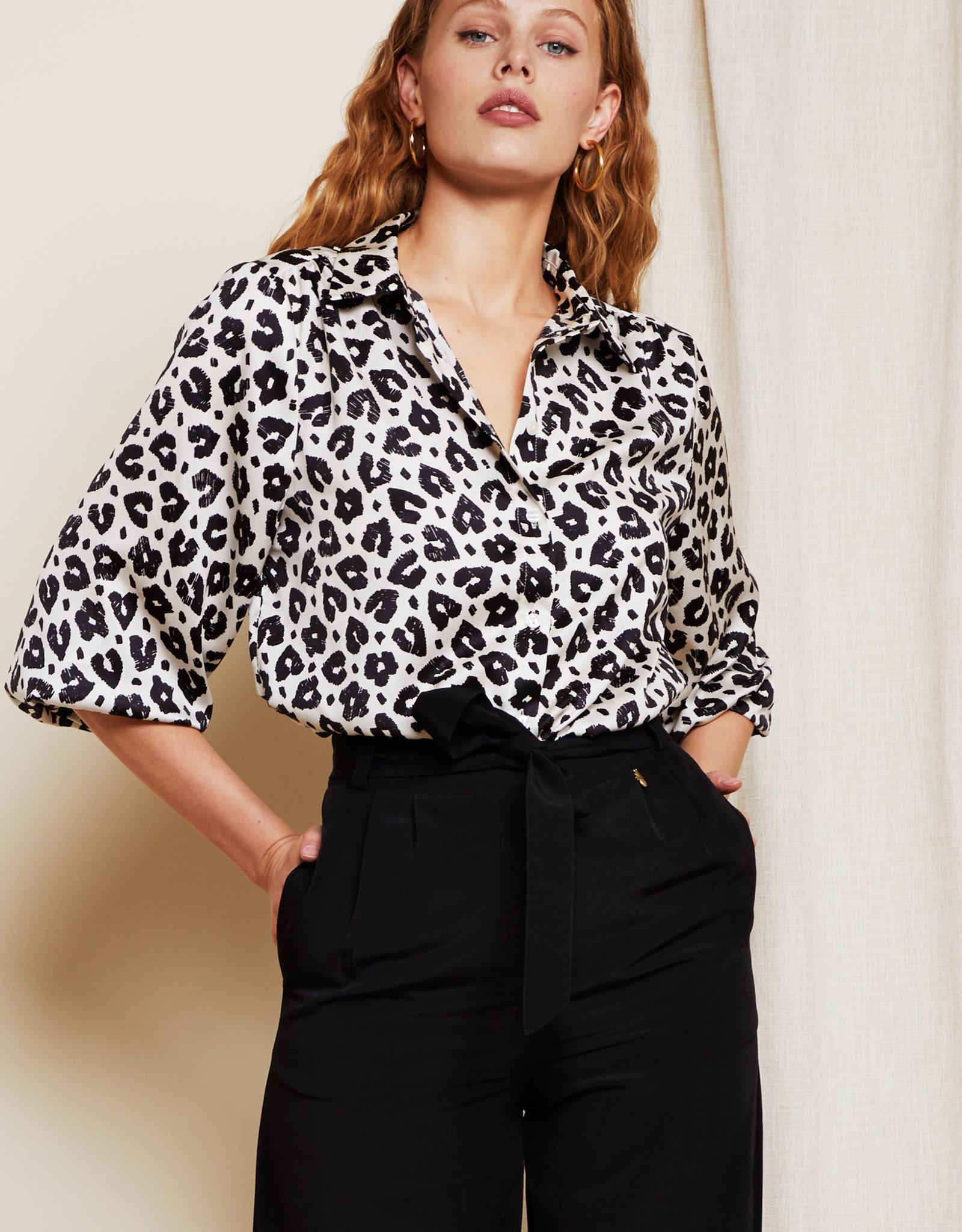 Fabienne Chapot Miranda Lou Blouse Lolita Leopard Black