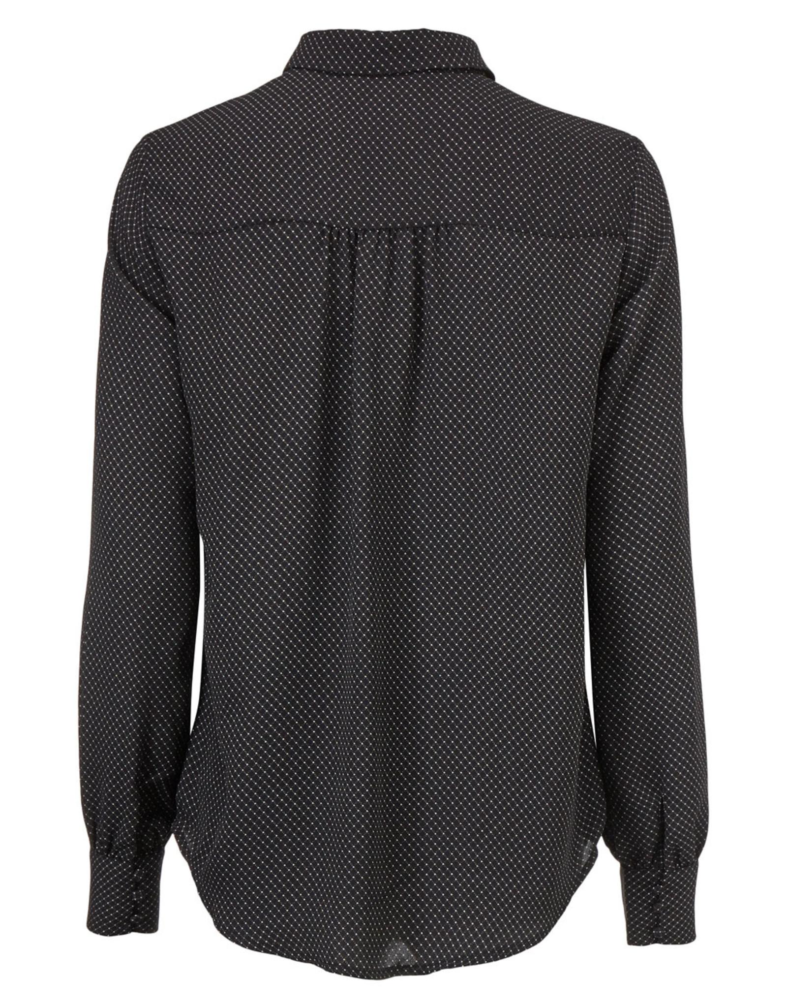 Modstrom Edna Print Shirt Dark Grid