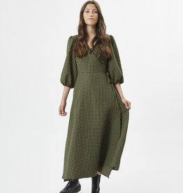 Minimum Elmina Midi Dress Dark Olive