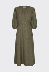 Minimum Elmina Midi Dress Dark Olive