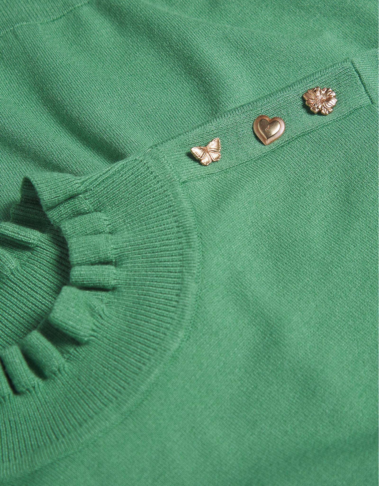 Fabienne Chapot Molly Frill Pullover Garden Green