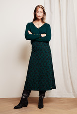 Fabienne Chapot Phene Skirt Bottle Green Lolita Leopard