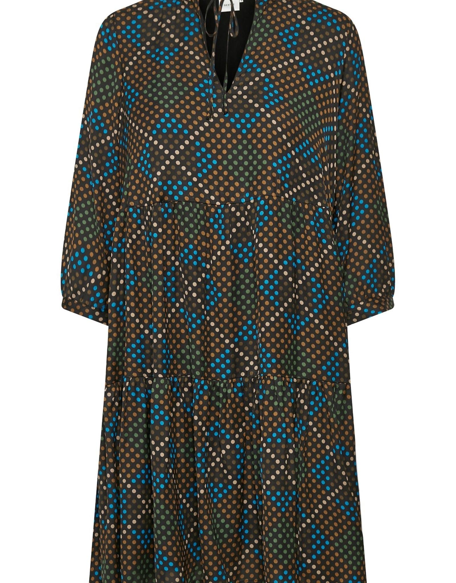 Gestuz Lolia Short Dress Brown Dot